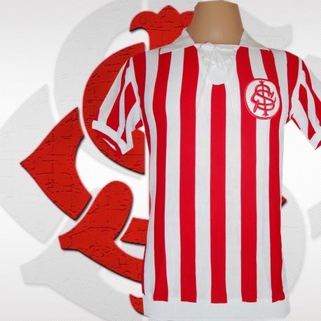 camisa retrô Internacional listrada 1910