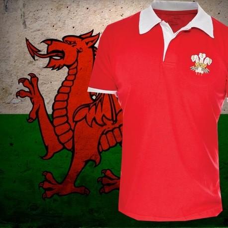 Camisa retrô Galles rugby - 1980
