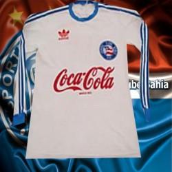 Camisa retrô Bahia branca ML gola redonda -1988