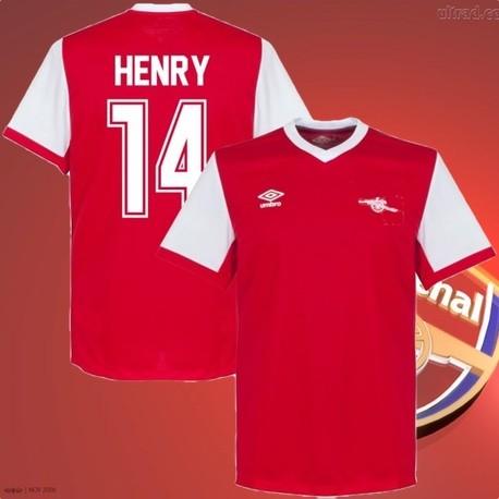 Camisa Retrô Arsenal Henry- ENG