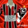 Camisa retrô São Paulo FC listrada IBF 1991.