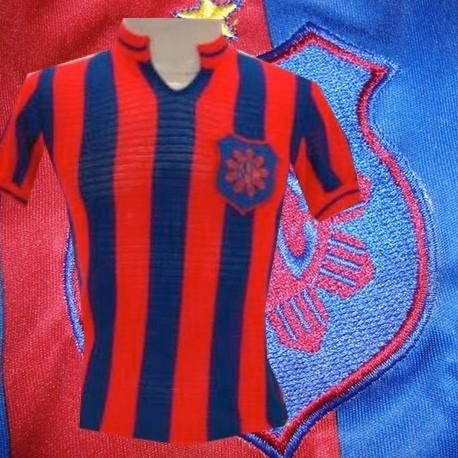 Camisa retrô Bom Sucesso listrada 1970 .