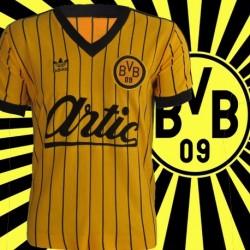 Camisa Retrô Borussia Dortmunt listrada- ALE