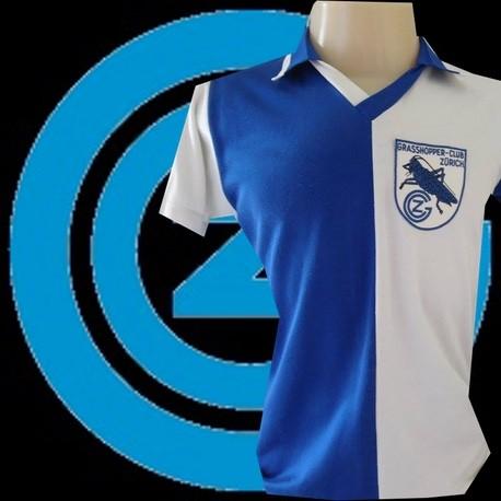 Camisa retrô Grasshoper de Zurich -1988